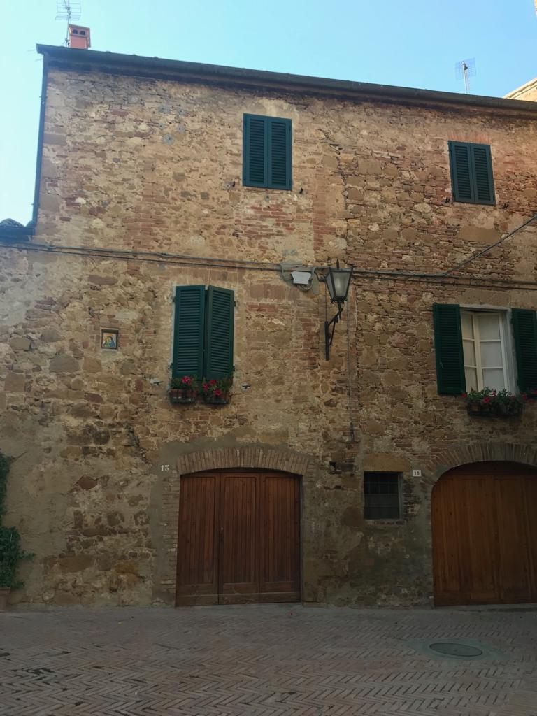 Casa antigua, Pienza, Toscana, Italia