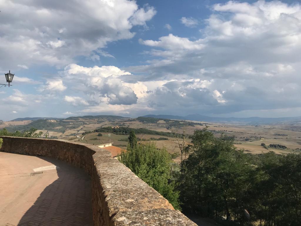 Paisaje de Pienza, Toscana, Italia